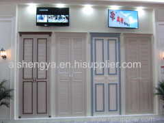 Vertical hinged door with Wood Plastic Composite board be used as interior home furniture