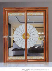 Decorative glass door with or without frame
