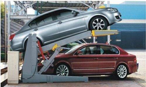 Hydraulic scissor type car lifter