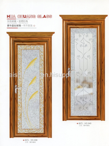 Glass arts for interior dooror home decorative material such as partation both in home and office with or without frame
