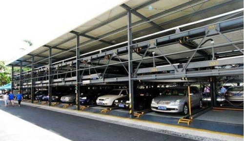 Automated three level puzzle parking equipment
