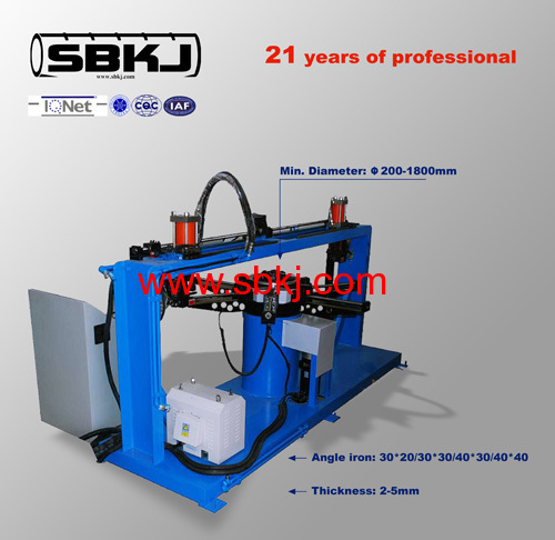 Round angle steel punching machine