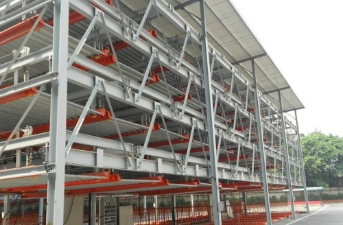 Automated lifting and sliding parking equipment