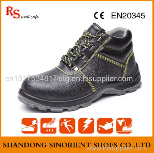 Top quality cheapest China shoe factory black Safety Shoes price with steel toe RH097
