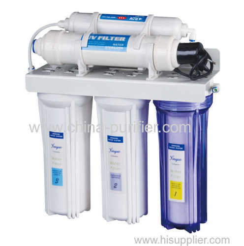 4 stages filter with sterilizer