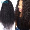 Brazilian Long Curly Full Lace Human Hair Wigs Virgin Hair Lace Front Wig Kinky Curly Lace Front Human Hair Wigs For Bla