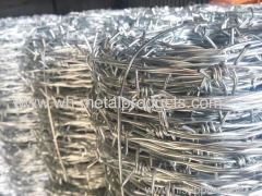 IOWA type barbed wire MOTTO type barbed wire heavily galvanized barbed wire