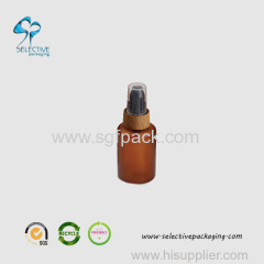 60ml frosted amber small squeeze sprayer bottle