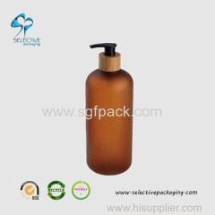 800ml large capacity boston round amber color pump sprayer bottle