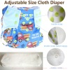 Sandexica New Style Reusable Baby Cloth Diaper Washable Adjustable Snap-Able Diaper Portable Baby Nappy