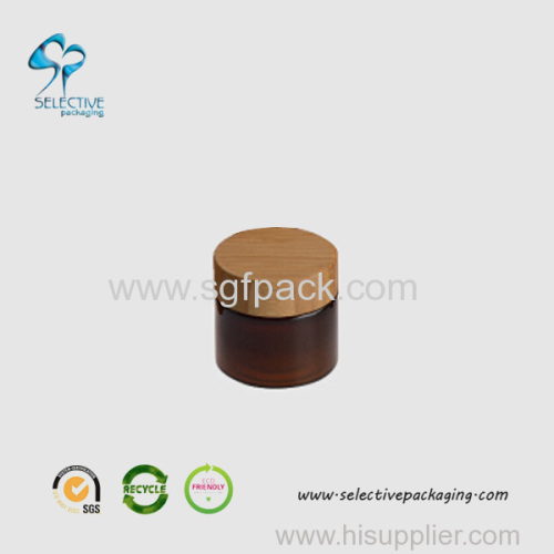 50g amber PET jar wood screw cap