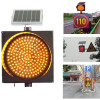Super brightness road safety led flashing solar traffic warning light