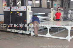 box packaging machine with printing and slotting