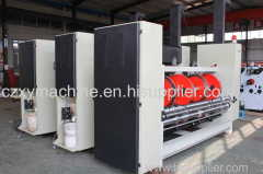Automatic 2 color printing machine with slotter and rotary die cutter