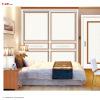 Bedroom wood furniture bureau with doulbe sliding doors