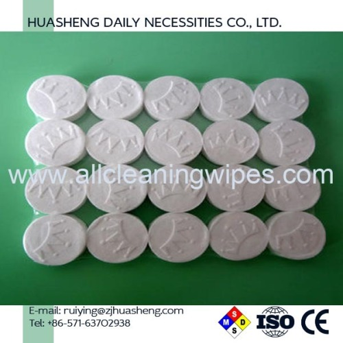100% rayon capsule compressed tissue