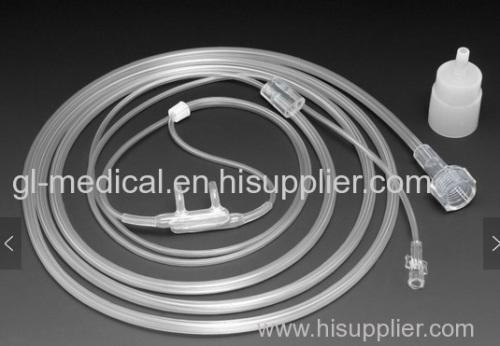 Nasal cannula oxygen tubing