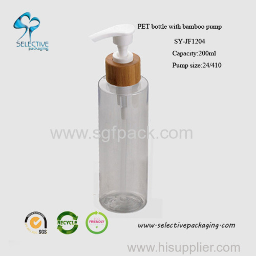 200ml small clear PET round bottle