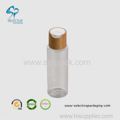 100ml transparent PET round bottle with press lid