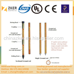 portable copper coated grounding rod