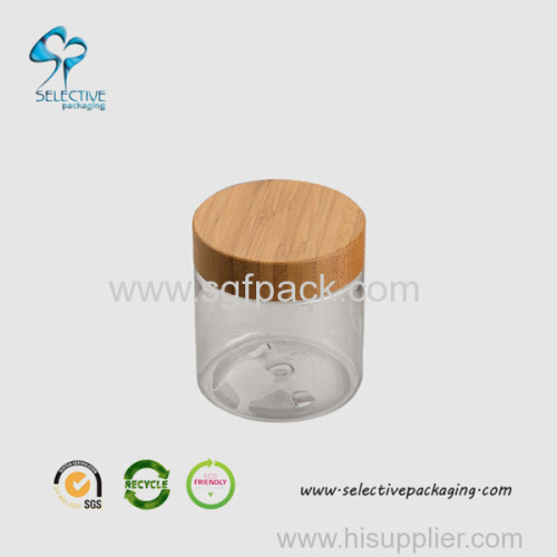 240g cream jar with bamboo top