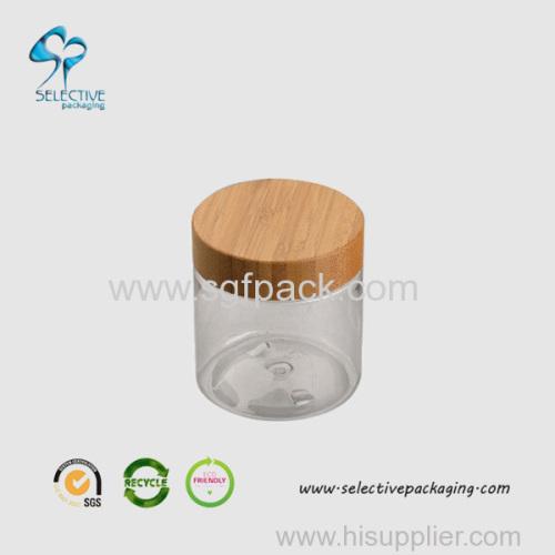 Frasco de creme de 240g com tampo de bambu
