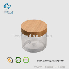 500ml large capacity cream jar with wood screw lid
