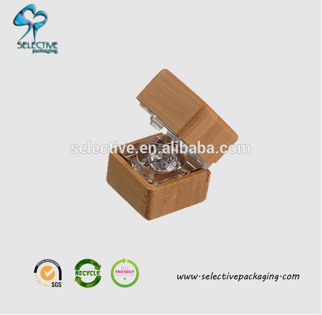 Bamboo square eye shadow box