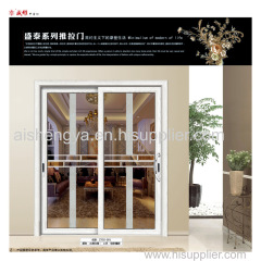High Standard Aluminium Double Tempered Glass Sliding Door