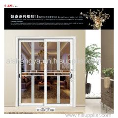 Hochwertige Aluminium-Doppel-Glas-Schiebetür