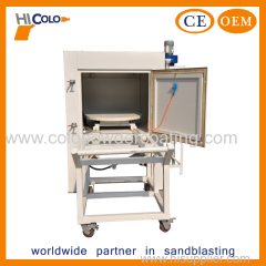 Turntable sand blasting machine
