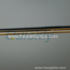 gold coating quartz infrared heater for printing oven