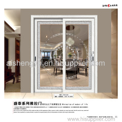 Hot selling sliding glass door with Aluminum frame and handles