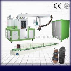 PU shoe sole making machine for slippers