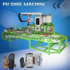 Leather Sandal Shoe Pouring PU Sole Machine