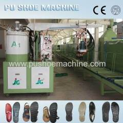 leather pu shoe machines