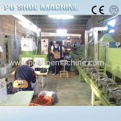 pu man leather shoes making machine