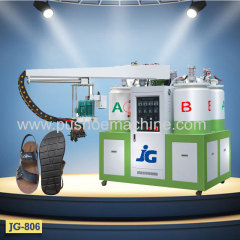 PU shoe sole pouring machine to make shoe