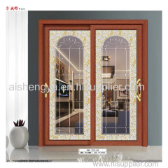 Linyi manufacturer balcony sliding aluminum alloy glass door