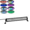 20inch white color 6500k 120w car lights 12 volt led light bar RGB Chasing HALO