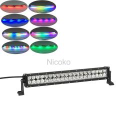 20inch witte kleur 6500k 120w autolichten 12 volt led licht bar RGB Chasing HALO