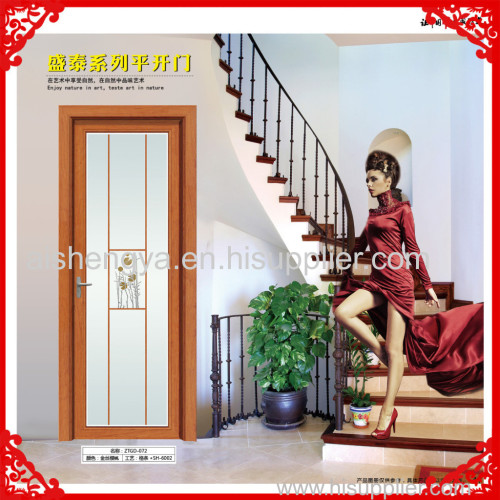 Glass doors and patations in home or hotel Single swing bathroom door