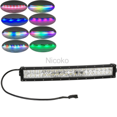 22 Inch 120W Curved Led light bar RGB Chasing