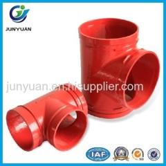 Grooved Pipe Fitting/Equal Tee/grooved tee/