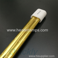 double tube gold coating infrared heater lamps