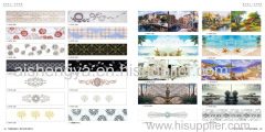 High-definition digital printing on HD paper stick on wood sheet as furniture panel or home decoration