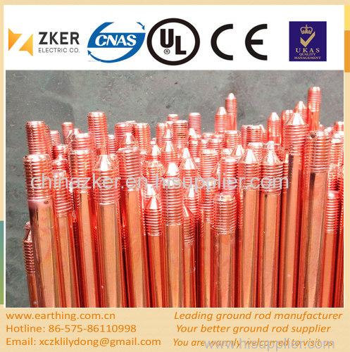 copper weld grounding rod