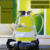 Cold water glass jugs for juice/tea and boil water heat resistant glass teapot