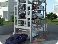Automated vertical rotary car parking system