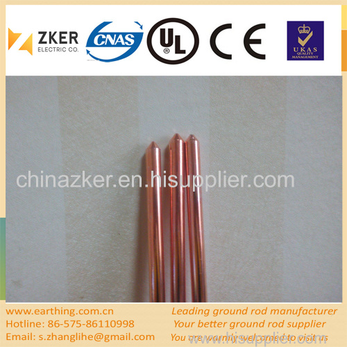 copper clad low temperature ground/earth rod